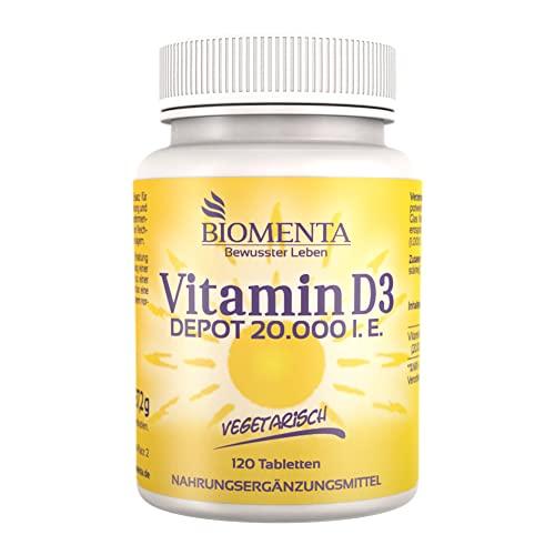 Vitaminpräparatetest Produkt BIOMENTA® Vitamin D3 hochdosiert